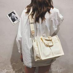 2019 New Canvas Bag Reusable Shopping Bags Grocery Tote Bag Cotton Daily Use Handbags Women Casual Handbag. Hippie Grunge, Fashion Bags, Fashion Outfits, Style Fashion, Runway Fashion, Look Blazer, Canvas Handbags, Lv Handbags, Reusable Shopping Bags