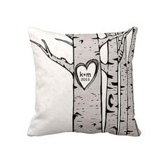 Pillow Cover Christmas Gift Wedding Gift Cotton Anniversary Gift by Jolie Marche on Etsy