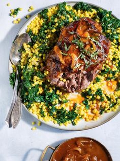 RICARDO | Apricot-Braised Lamb with Israeli Couscous