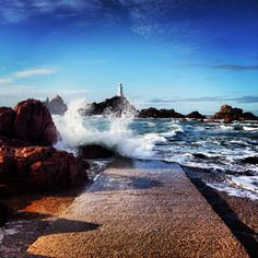 Corbiere Lighthouse Jersey ..gorgeous day!!