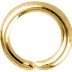 10 anneaux d'emmaillement en or jaune plaqué 18k. diamètre 4,5 mm  neuf