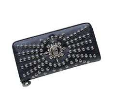 Herebuy - Cool Retro Skull Wallet for Women Vintage Clutch Bag (Black02) >>> Check this awesome image @