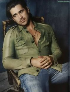 Colin Farrell. I managed to incorporate him into an essay in high school geography because that's how awesome I think he is <3 lol