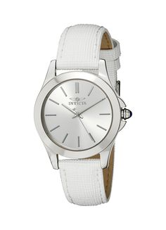Invicta Women's 15147 'Angel' Stainless Steel and White Leather Watch *** Click image for more details.