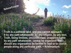 Jiddu Krishnamurti - Pathless Land