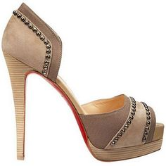 Cheap Christian Louboutin Henry 140mm Studded D'orsay Pumps Nude Red Sole Shoes For Sale,Christian Louboutin Peep Toe Pumps