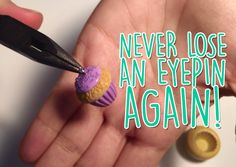 Tutorial: Trick to never lose an eyepin again from polymer clay charms - DIY Polymer Clay Tutorial - YouTube