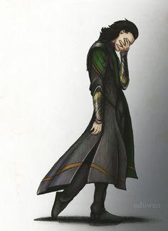 Loki based on the poem Þrymskviða where he wears Freyjas feather cloak. [link] So finally I can upload some new stuff. Loki with feather Cloak Loki Marvel, Loki Thor, Loki Sad, Tom Hiddleston Loki, Loki Laufeyson, Chris Hemsworth, Baby Loki, Loki Drawing, Asgard