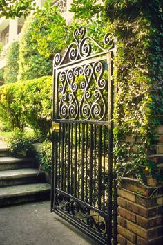 Gate to a Meeting Street Garden, Charleston, SC © Doug Hickok All Rights Reserved