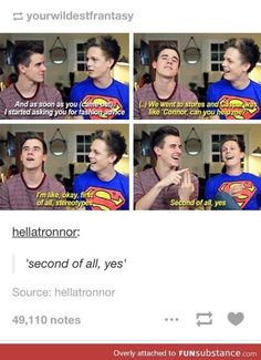 lol I loved this part   Youtubers   Caspar Lee and Connor Franta: