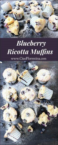 Blueberry Ricotta Muffins Recipe | CiaoFlorentina.com @CiaoFlorentina