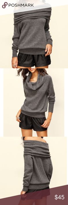 Multiple Convertible Neck Long Knitted T-Shirt Description Grey Convertible Neck Long Sleeve Knitted T-shirt Length(cm) : 58cm Bust(cm) : 94cm Sleeve Length : 65cm Size Available : one-size Season : Fall Fabric : Fabric has some stretch Pattern Type : Plain Items : Pullovers Color : Grey Types : Loose Sleeve Length : Long Sleeve Neckline : Off the Shoulder Material : Acrylic Styles : Casual   F1 Tops Tees - Long Sleeve