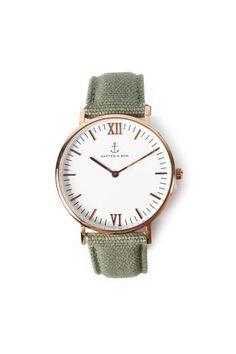 KAPTEN & SON Armbanduhr Campus Canvas Olive bei myClassico - Premium Fashion Online Shop
