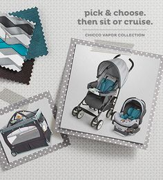 Stroller love—this Chicco travel system is a trendy twist on a baby must-have.