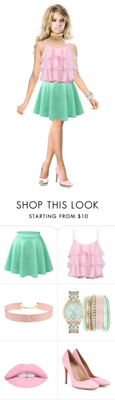 BEAUTY PINK by sabri-lujan on Polyvore featuring moda, Pierre Balmain, LE3NO, Gianvito Rossi, Johnny Loves Rosie and Jessica Carlyle