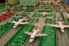 This amazing Lego airport was showcased in LegoCity, at Senayan City, Indonesia.