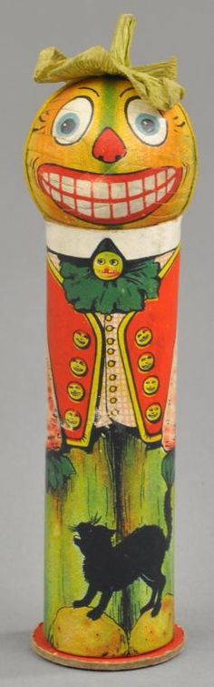 German Halloween Soldier Candy Container