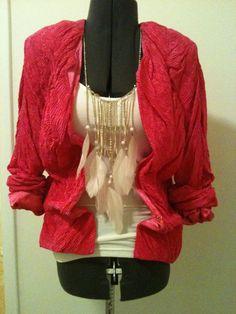Designer Pink Vintage Jacket by DIYstylist on Etsy, $15.99