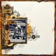 ScrapBerry's: an awesome boyish lay-out made by Denise van Deventer.