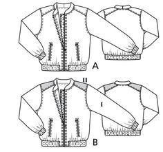 Women's plus size blouson jacket sewing pattern available for download. Available in various sizes and is produced by BurdaStyle Magazine.