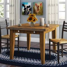 Wood Folding Dining Table - Extendable Dining Table with 2 Leaves - Rustic Oak Decor, Table, Extendable Dining Table, Counter Height Dining Table, Modern Dining Table, Dining Furniture, Furniture, Wood Dining Table, Dining Table