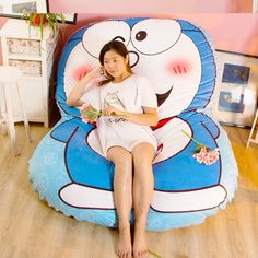 234.00$  Buy here - http://alieq1.worldwells.pw/go.php?t=32767878129 - Fancytrader Anime Soft Doraemon Sleeping Bed Stuffed Plush Tatami Mattress Sofa Best Xmas Gifts for Children 234.00$