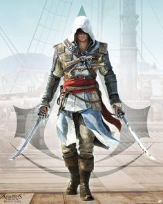 Poster affiche Assassin's Creed Black Flag Pirate