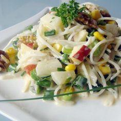 Vegetarische & vegane Rezepte: Schichtsalat mit Ananas & Sellerie