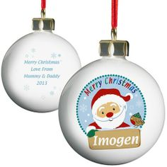 Personalised Santa Bauble  from Personalised Gifts Shop - ONLY £10.99