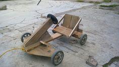 Carrito de madera reciclada