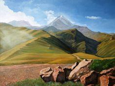 Alan Albeg: Kazbek. View from Gergeti monastery