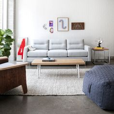 Gus* Modern | The Logan Sofa Balances Comfort With Refined, Modern Style.  The