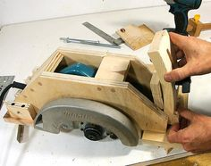 Homemade table saw from circular saw