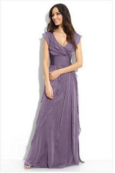 Is this wedding dress too casual? :  wedding chiffon dress lavendar lilac purple violet wedding Purple