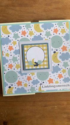 Photo Album Scrapbooking, Mini Scrapbook Albums, Scrapbook Paper Crafts, Baby Boy Scrapbook, Handmade Envelopes, Handmade Books, Mini Albums, Baby Mini Album, Anniversary Scrapbook