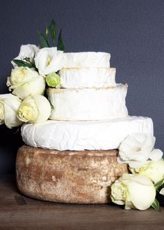 "A real cheese cake - offbeat, non ""cake"" cakes are coming into fashion for weddings."