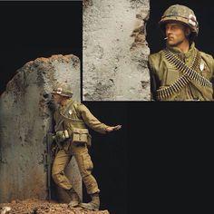 Hunting For Charlie By: loco_ss From: onesixthwarriors  #scalemodel #plastimodelismo #miniatura #miniature #miniatur #hobby #diorama #humvee #scalemodelkit #plastickits #usinadoskits #udk #maqueta #maquette #modelismo #modelism