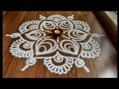 Beautiful and easy free hand rangoli designs by Shital Daga , easy rangoli designs with funnel Rangoli Side Designs, Simple Rangoli Border Designs, Rangoli Designs Latest, Rangoli Borders, Rangoli Ideas, Rangoli Designs Diwali, Rangoli Designs With Dots, Rangoli Designs Images, Beautiful Rangoli Designs
