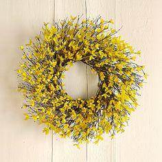 Forsythia Wreath #williamssonoma