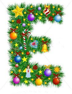 stock-vector-letter-e-christmas-tree-decoration-alphabet-7019860.jpg (360×470)