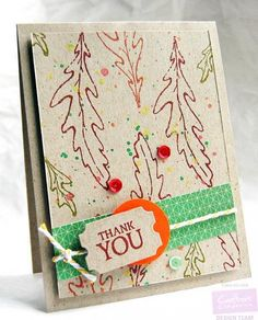 Thank You Fall Card by Tenia Sanders-Nelson - Cards and Paper Crafts at Splitcoaststampers