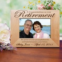 Engraved Retirement Gift Frame School Picture Frames Sizes Wooden