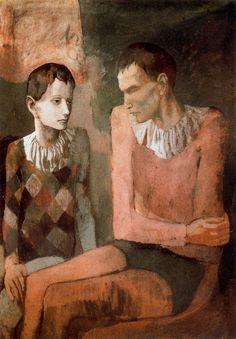 Acróbata y joven arlequín. 1905.