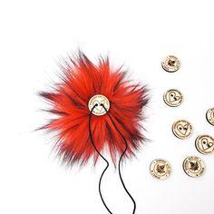Fire Red Faux Fur Pom Poms – Warehouse 2020 Faux Fur Pom Pom, Black Nylons, Pom Poms, Warehouse, Fire, How To Make, Color, Colour, Magazine