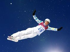 Sochi 2014 - Best Of Day 8 Zhanbota Aldabergenova of Kazakhstan competes in the Freestyle Skiing Ladies' Aerials Qualification
