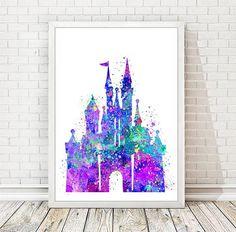 Disney Schloss Aquarell Art Print Disney Princess Cinderella