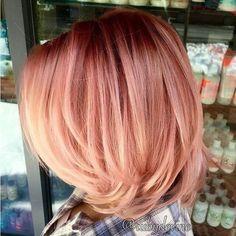 Coloration tendance: rose gold hair © Pinterest Sue Lienau