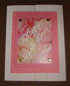 Greeting card - Double fold, die cuts and dry embossing