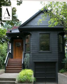 Before and After: Black Paint Modernizes Home Exterior | Apartment Therapy