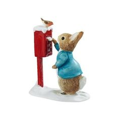 Beatrix Potter Miniature Figurine Peter Rabbit Posting a Letter... ❤ liked on Polyvore